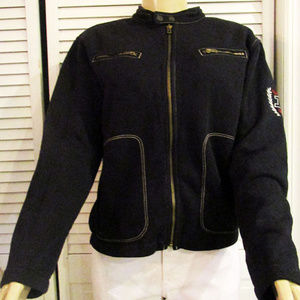 Tommy Hilfiger Black Sweater With No Hood L/G
